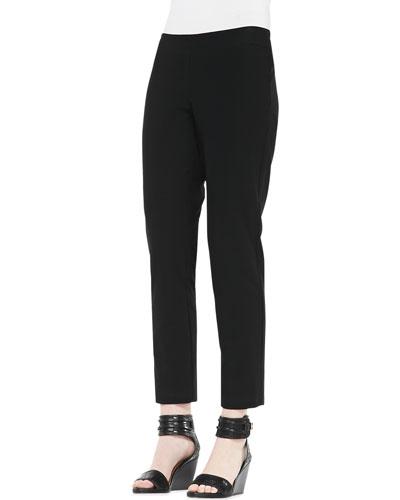 Eileen Fisher Slim Crepe Ankle Pants, Women's