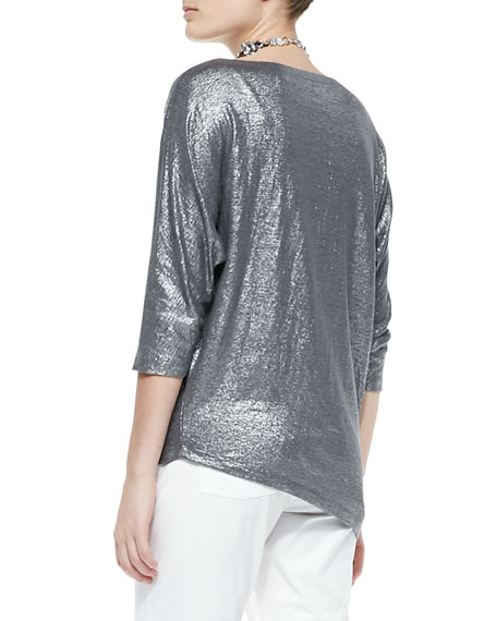 Shimmer Soft Asymmetric Top