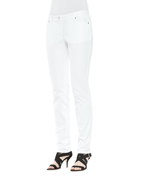 Organic Twill Skinny Ankle Jeans