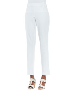 Eileen Fisher Organic Stretch Slim Twill Trousers