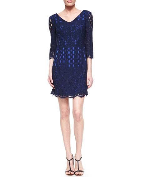Macon Floral Lace Dress