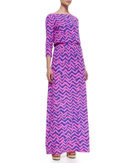 Lilly Pulitzer Nigella Printed Jersey Maxi Dress
