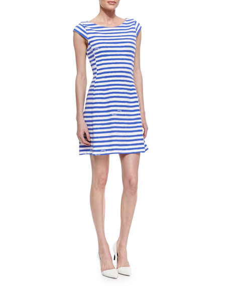 Briella Striped Ponte Dress