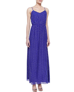 Lilly Pulitzer Deanna Metallic Clip-Dot Maxi Dress