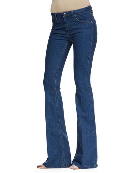 Flare-Leg Jeans, Light Griffith