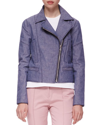 Summer Twill Biker Jacket