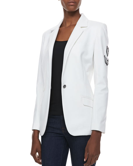 Reverly Blazer with Patches