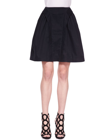 Suspended Stretch-Cotton A-Line Skirt