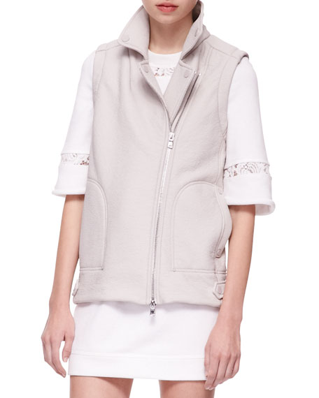 Double-Face Zip Vest