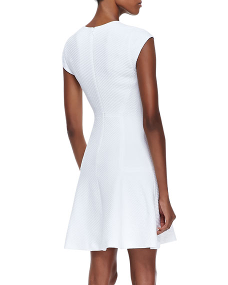 Textured Flare-Skirt Dress