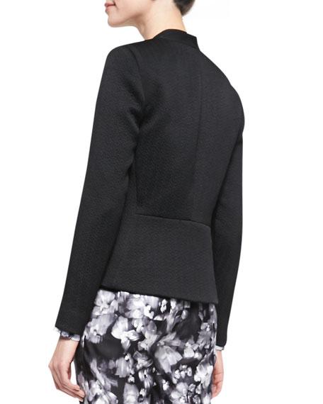 Structured Open-Front Jacket, Black