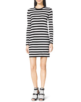 MICHAEL Michael Kors  Striped Crewneck Dress