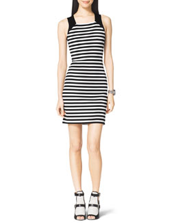 MICHAEL Michael Kors  Striped Solid-Band Dress