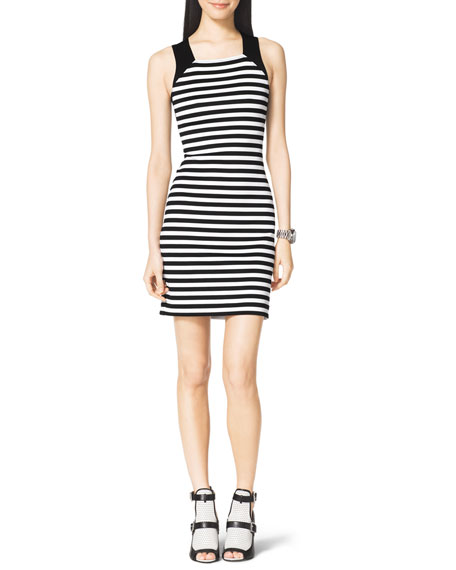 Striped Solid-Band Dress