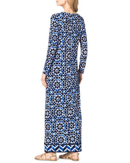 Long-Sleeve Jersey Maxi Dress