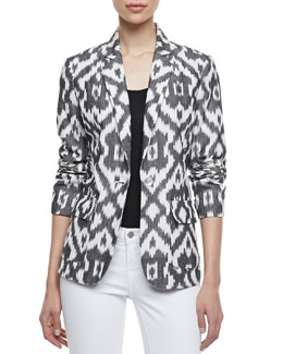 Neiman Marcus Ikat One-Button Jacket