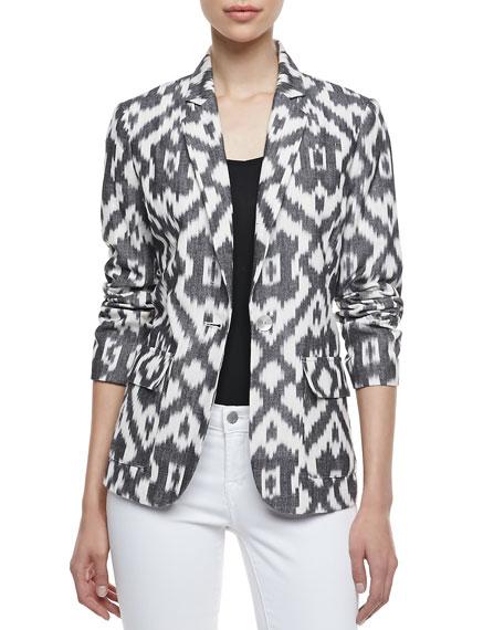 Neiman MarcusIkat One-Button Jacket