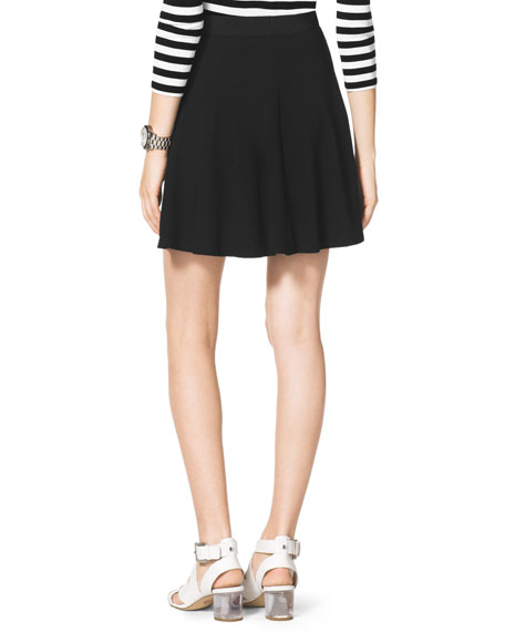 Flared Pull-On Skirt