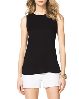 MICHAEL Michael Kors  Drape-Back High-Low Top