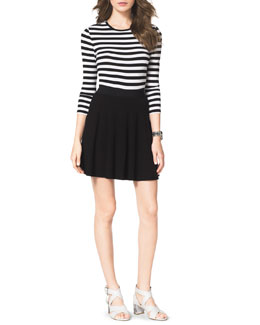 MICHAEL Michael Kors  Striped Jersey Bodysuit