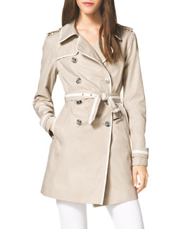 MICHAEL Michael Kors  Piped Lightweight Trench Jacket