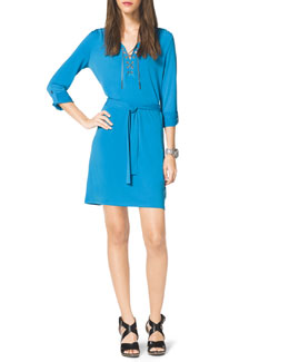 MICHAEL Michael Kors Chain-Front Shirtdress