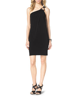 MICHAEL Michael Kors  One-Shoulder Jersey Dress