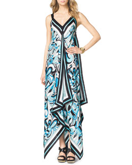 MICHAEL Michael Kors  Abstract-Print Maxi Dress