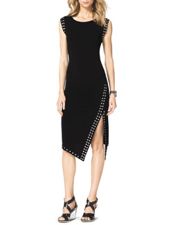 MICHAEL Michael Kors  Grommet-Trim Fitted Dress