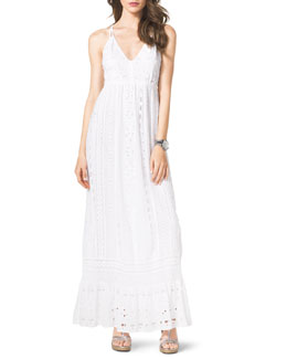 MICHAEL Michael Kors  Cotton Eyelet Maxi Dress