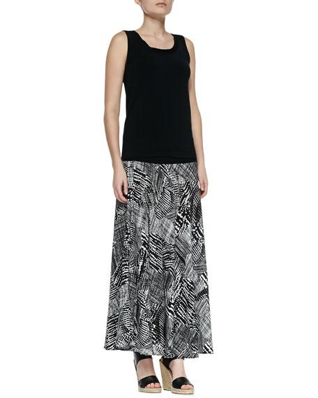 Graphic Print Maxi Skirt, Women's