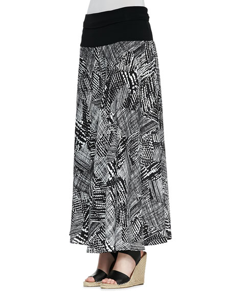 Graphic Print Maxi Skirt, Women's