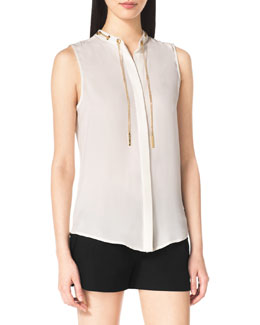 MICHAEL Michael Kors Chain-Neck Blouse