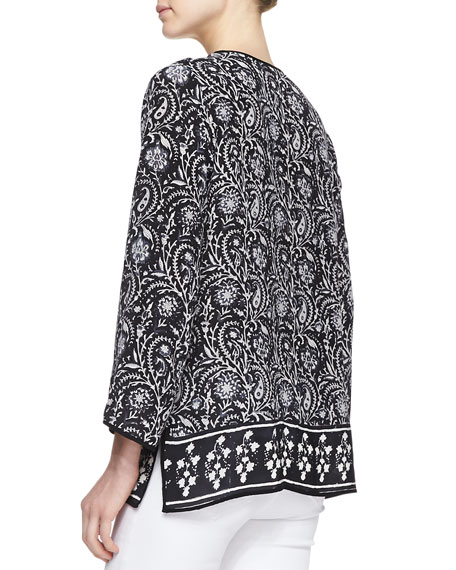 Talia Silk Printed Tunic, Women's
