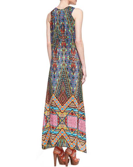 Annie Silk Sleeveless Long Dress