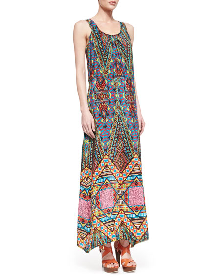 Annie Silk Sleeveless Long Dress