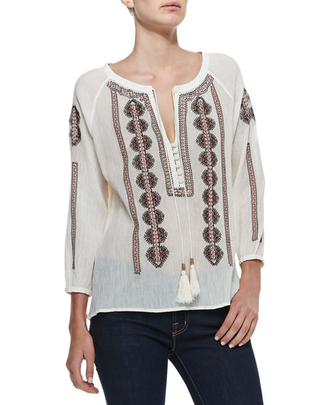 Ritu Embroidered Silk Tunic