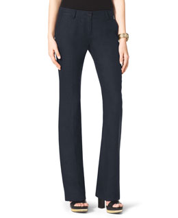 MICHAEL Michael Kors  Linen Boot-Cut Trousers