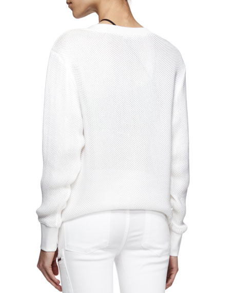 Space Knit Pullover Sweatshirt