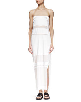 Helmut Lang Horizon Long Paneled Dress