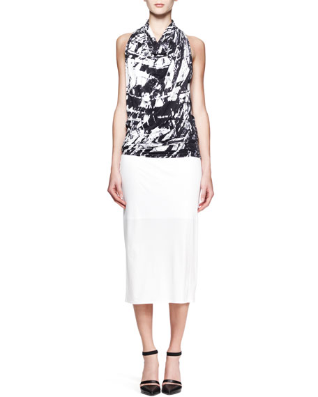 Ion Jersey Midi Skirt