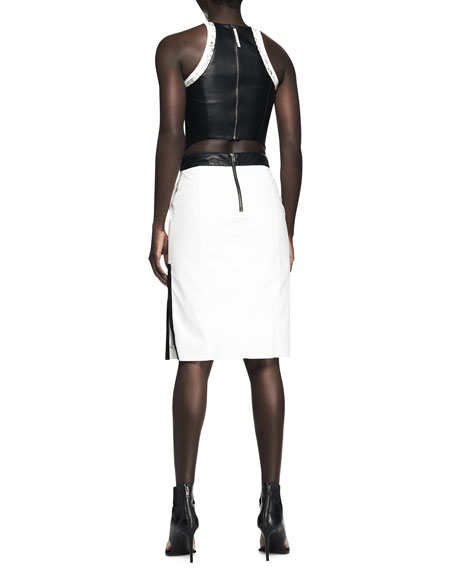 Sleeveless Cutout Colorblock Combo Dress