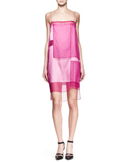 Helmut Lang Paneled Organza Runway Dress