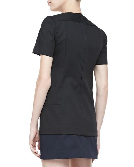Kaliste Short Sleeve Jersey Top, Black
