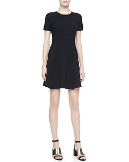 Theory Alancy Fit & Flare Dress