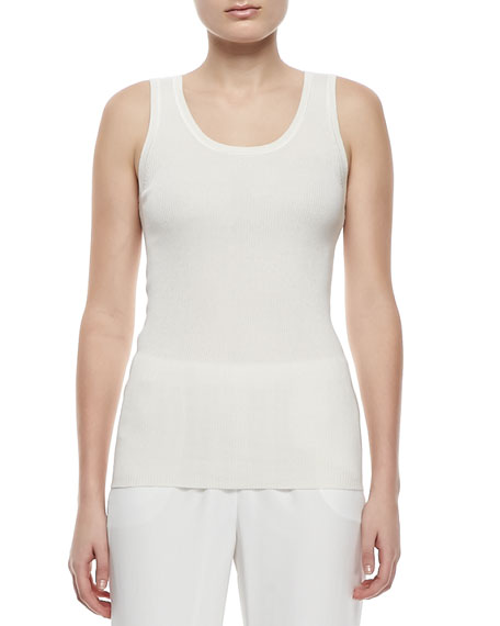 Ribbed Silk-Cashmere Tank