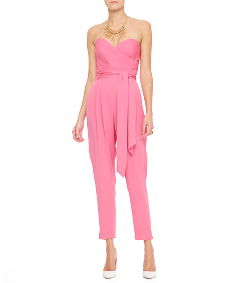 Favorites Strapless Silk Jumpsuit