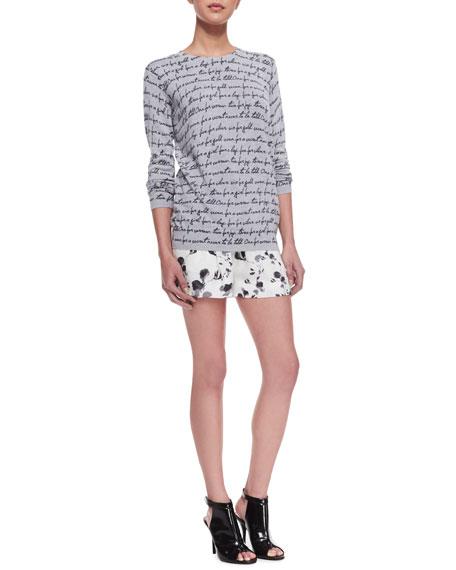 Floral-Print Drawstring Shorts