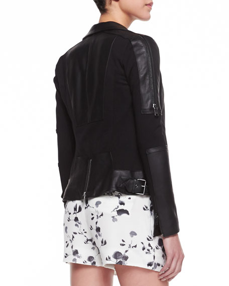 Ponte/Leather Motorcycle Jacket