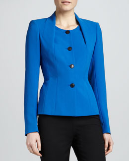 Lafayette 148 New York Finese Button-Front Jacket